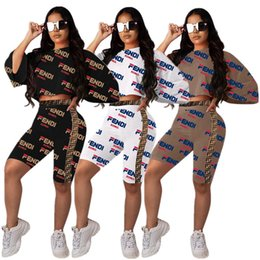 tee length Coupons - women Short Batwing Sleeve t-shirt shorts 2 piece set outfits Print Letter Tee Top tshirt bodycon pant sportswear Sports suit tracksuit
