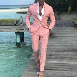 2019 shawl pico lapela smoking smoking 2019 Pants Brasão mais recentes modelos Homens rosa terno ternos vestidos de casamento Slim Fit Groom Best Men Masculino smoking 2 peças homme traje