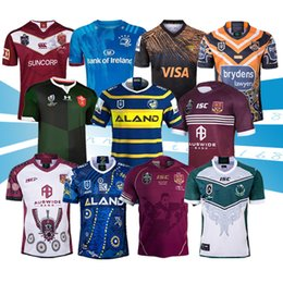 maroon shorts Promo Codes - 2019 2020 leinster state of origin maroons Lanholton West Tiger Raider parramatta eels warrior Rugby Jerseys 2019 2020