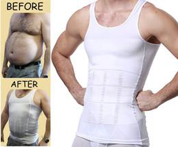 для мужчин Скидка Мужская похудения органа Shaper жилет рубашка сжатия мышцы Майка корректирующее белье майка для похудения рубашка тренировки жилет АБС живота тонкий