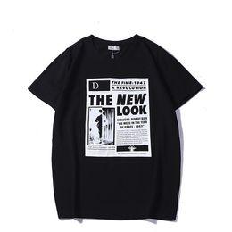 Diseños de carteles online-2019SS Nuevo diseño de la marca de impresión de la letra del cartel 'The New Look' camisetas de las mujeres del verano del o-cuello de la camiseta para las mujeres de moda top tees