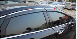 chevrolet aveo sonic Rebajas Más Lapetus ventana de la manera viseras toldos viento Lluvia deflector visera Vent Guardia protector para el Ford Fusion / Mondeo 2013 - 2017