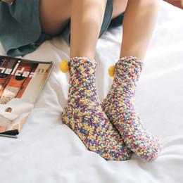 Presente da toalha do bolo do natal on-line-Moda Cup Cake Meias Coral Cashmere Algodão Sock inverno macio morno presentes Meia do Natal de toalha meias meias barco novo GGA2907