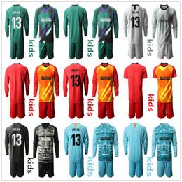 ronaldo jersey giovani Sconti Manica lunga 2019 2020 Kid Gioventù Adan Oblak portiere maglie di calcio dei capretti Imposta N. 13 Jan Oblak Uniforme # 1 Adan Kid Boy Portiere bambini