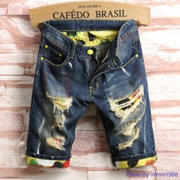 best denim washes Coupons - Washed casual denim shorts and men's jeans 2019 summer new slim-fit young men's mid-bottom trousers best price wholesale