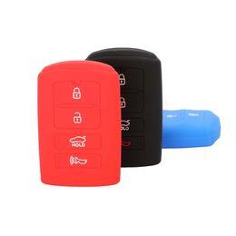 Capas de chave de borracha remota on-line-Jingyuqin Sile Tampa da Chave de Borracha FOB Caso para KIA K9 Cadenza K7 Inteligente Remoto Chave Jacket Caso Car-styling Capa 4 Botões