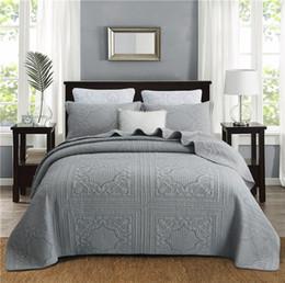 literie à carreaux bleus Promotion Gris Blanc Beige Rose Style Européen de Luxe 100% Coton Été Couette Couverture Couvre-Lit Drap de Lit Draps Taie d'oreiller