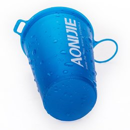 foldable bpa free water bottles wholesale Promo Codes - AONIJIE 200ml BPA Free Foldable Soft Water Cup for Marathon Cycling Camping Running Sport Bottle Outdoor Sport Hiking Camping