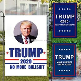 2019 impianti di protezione da giardino Trump Garden Flags 30 * 45 CM Presidente Elezione Generale Banner 2020 Trump Bandiera Poliestere Pennant Banner Bandiere Decorazioni Da Giardino WX9-1374