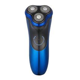 Carros elétricos on-line-Ufree U-122 Men'S Electric Shaver Razor 3D Floating Heads Wireless Use Men'S Shaving Machine Waterproof Beard Shaver 100-240V