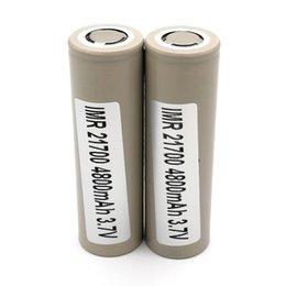 Литиевые батареи для автомобилей онлайн-100% Высокое Качество INR 48G 21700 Батарея 4800 мАч 40A 3.7 В Электрические автомобили Аккумуляторные Литиевые Батареи
