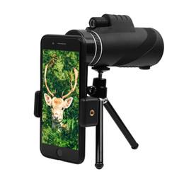 Trípode impermeable online-Telescopio monocular 40x60, BAK4 Prism FMC Lens Waterproof Scope de alta potencia con adaptador de teléfono inteligente para trípode para viajes, conciertos, deportes, etc.