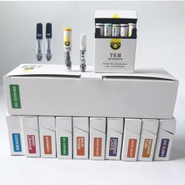 Dab cigarettes électroniques en Ligne-0.8 1ml TKO extrait Cartouches de Vape Emballage Verre Céramique Huile Dab Stylo Cire Vaporisateur 510 Fil Batterie de cigarettes électroniques Chariots