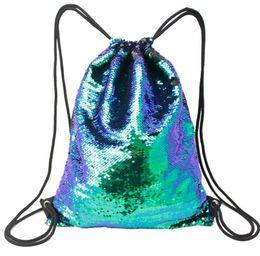 карманы для одежды Скидка Потяните обесцвеченные блестки спортивная сумка, веревка жгут карман, открытый сумка, водонепроницаемый Оксфорд ткань, флип блестки, супер-толстая нейлоновая веревка