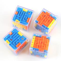 лабиринтные шарики Скидка 2019 новый пазл Maze Magic Cube Toys Мини-головоломка Cube Speed Labyrinth Rolling Ball Обучающая игрушка для детей Взрослые C5811
