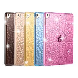 estuche antichoque ipad air Rebajas Para el iPad 9,7 2,017 2,018 Aire pro 10.5 12345 3D que talla el caso suave textura completa TPU protector antichoque Volver