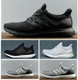 Ultra boost Sapatos Casuais 3.0 4.0 Homens Mulheres Stripe Balck Branco Oreo Sneakers Sapatos Ultraboost Formadores Tamanho 36-47 de Fornecedores de sapatas running feitas sob medida baratas