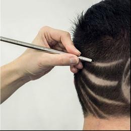 2019 set di forbici kasho Pro 2pcs / set del rasoio Salon inciso penna in acciaio inox Hair Styling sopracciglia Barba 1 Lama lo styling dei capelli Strumenti Per La cura #