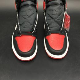 Air 1 High OG Bred Toe 555088-610 1s I Red White Black Kicks Mujeres Hombres Zapatillas de deporte de baloncesto Zapatillas de deporte Zapatillas con caja original desde fabricantes