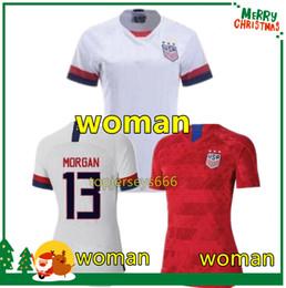 cc52eca01e Camisa de futebol mulher 2019 2020 América camisa de futebol camisa dos estados  unidos 19 20 EUA MORGAN RAPINOE feminino camisas de futebol mulheres ...