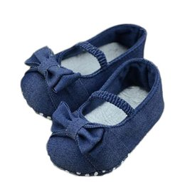 2019 обувь для девочек Baby Shoes Girl Boy Soft Colorful Bowknot Denim Toddler Princess First Walkers Shoes 2018 kids Baby скидка обувь для девочек