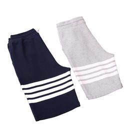 Коричневые шорты онлайн-Пляжные шорты Thom BROWN TB мужские дизайнерские шорты Три белые полоски Off Мужские женские коричневые Брюки для отдыха White dolce