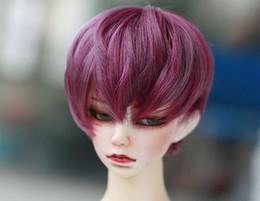 D01-P478 детская игрушка ручной работы 1/3 дядя кукла аксессуары BJD/SD кукла парик естественный микро-объем фиолетовый цвет 1 шт. от