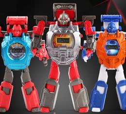 nouveaux modèles de montres pour filles Promotion Nouvelle déformation enfant robot déformation regarder jouet diamants tourné garçon fille robot modèle poupée 8 voiture