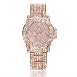 relojes mujer 2018 женские часы мода горный хрусталь из нержавеющей стали группа аналоговые кварцевые круглые наручные часы Часы Баян кол Саати от