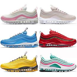 sports shoes bd857 8f7af nike air max 97 Vapormax airmax off white scarpe da tennis da running da  donna da donna Pink Silver Bullet Nero Triple White South Beach SE OG  scarpe da ...