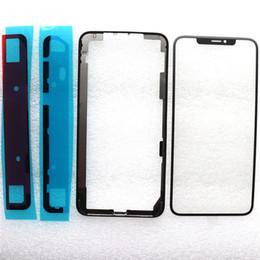оптовые телефоны для повышения Скидка Для iPhone XS Max Оригинальный Передний Экран Внешнее Стекло Len с OCA Сборка Сенсорная Панель + Передняя Рамка Рамка + Наклейка Клей