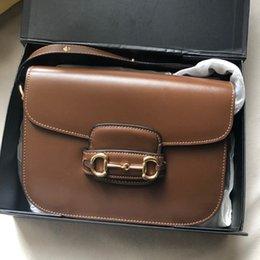 modelos de moda senhoras Desconto Designer crossbody marca saco GCI moda clássicos sela sacos do vintage de ombro único mensageiro sacos bolsa de Senhoras bolsas Modelo 1955 # 2019