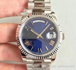 2019 montres bleues pour hommes Top U1 usine JOUR JOUR DATE Montre Mécanique Automatique 41MM Hommes Montres Royal Oaks Bleu Face Complète Bracelet En Acier Inoxydable Montres Hommes promotion montres bleues pour hommes
