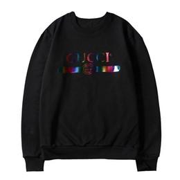 Laserhals online-Herren Pullover Designer Rundhals Lässige Laser Letter Print Sweater Men