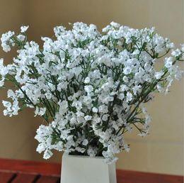 Elegante artificiale babysbreath fiori artificiale bianco gypsophila falso fiore di seta pianta casa decorazione della festa nuziale da