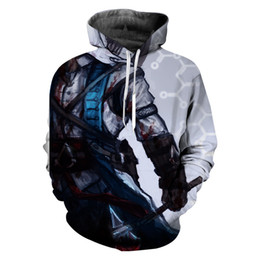 assassin s creed clothing Promo Codes - 2019 Hot Sale Assassins Creed 3D Print Hoodies Clothing Casual Long Sleeve Novelty Streetwear Hooded Sweatshirt Men Pullover