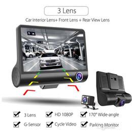 Автомобильный видеорегистратор dual gps онлайн-Оригинал 4 «» Автомобильный видеорегистратор видеокамеры рекордер Вид сзади Auto регистраторе Ith две камеры черточки Cam видеорегистраторы с двумя объективами