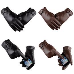 2019 спортивные перчатки девушки Мужские зимние вождения PU кожаные теплые перчатки 2 цвета мягкий толстый флис подкладка ветрозащитный езда на велосипеде открытый мотоциклетные Велоспорт перчатки H916R