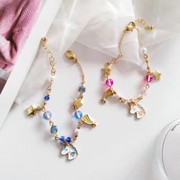 2019 schöne koreanische frauen Sommer Mode Japanisch und Koreanisch Cartoon Schmuck Zubehör Schöne Mädchen Frauen Kreative Perlen Einhorn Sterne Armband rabatt schöne koreanische frauen