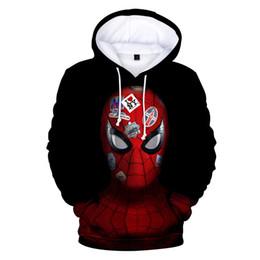 Nuevas sudaderas de moda online-2019 nuevo spiderman Jacket Sudaderas con capucha de impresión digital 3D tendencia simple salvaje Sudaderas con capucha suéter hombres y mujeres
