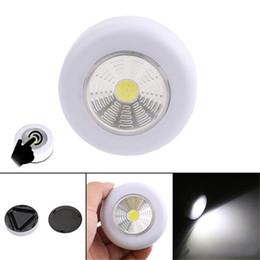 bierflasche nacht lichter Rabatt COB LED Nachtlicht Kleiderschrank Touch Light Lampe 3W Batteriebetriebene Küchenschrank Closet Push Tap Home Stick On Lampe