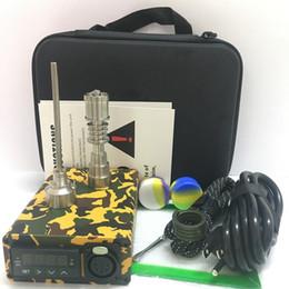 Kits de enail portátil bong E unhas de quartzo de titânio quartzo sem dom 16mm 20mm caixa de controle PID para dabbing com vidro de
