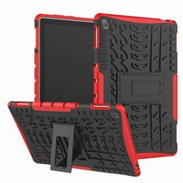 rosa zünden feuer Rabatt Für Huawei MediaPad M5 Lite Fall Hartplastik TPU Combo Rüstung Halterung Schutzhülle Fall Für Huawei MediaPad M5 Lite 10,1 Zoll