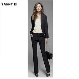 Куртка + брюки женский деловой костюм черный с длинными рукавами стройная женская офисная униформа женские вечерние брюки 2 шт. Блейзер на заказ от