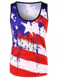 mulheres soltas camisas estrelas Desconto Afora de julho mulheres camisetas tanque de respingo estrelas listras Top Independence Day roupas femininas causal solto 2019 verão grátis DHL