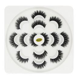 2019 tiras de cabelo sintético Mais novo 7 Pares 3D Cílios Feitas À Mão Natural Longo Faux Mink Lashes Alta Qualidade Falso Lashes Extensões Maquiagem Mulheres Maquiagem Ferramenta