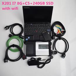 Software de diagnóstico automotriz para laptops. online-Auto reparación herramienta de diagnóstico escáner automotriz MB Star C5 SD Compacto C5 wifi + computadora portátil usada X201 I7 8G + nuevo SSD de 360GB el nuevo software V07.2019