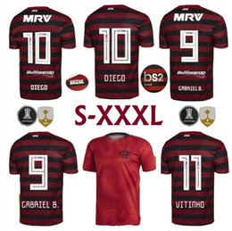 numbered soccer jerseys Coupons - Top tier 2019 2020 S-3XL CR flamengo home away soccer jerseys custom name number GUERRERO 9 DIEGO 10 football shirts fotbul