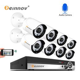 app sicherheit Rabatt Enniov 8CH 5MP Überwachungskamera-System CCTV-Set Wasserdichte Audioaufnahme Videoüberwachung POE-Kit NVR HD APP Danala IR-Cut anzeigen
