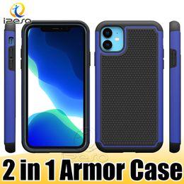 Cas de téléphone de robot en Ligne-Coques Robot Hybrides pour iPhone 11 2019 XS MAX XR X 8 7 6 Plus Coque de Protection 2 en 1 pour Armure Renforcée izeso